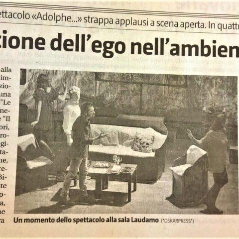 ADOLPHE - Giornale di Sicilia 20.06.15