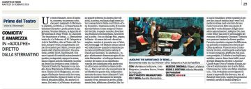 ADOLPHE - Recensione di Valeria Ottolenghi, Gazzetta di Parma 16.02.16