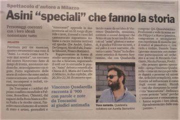 ASINI - Intervista di Marco Bonardelli su Gazzetta del Sud 19.08.14