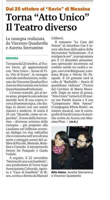 AU 15_16 - Gazzetta del Sud 22.10.15