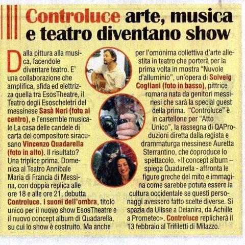 CONTROLUCE - VIVERE, speciale del quotidiano La Sicilia 29.01.15