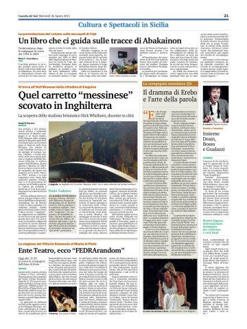 EREBO - Gazzetta del Sud 26.08.15