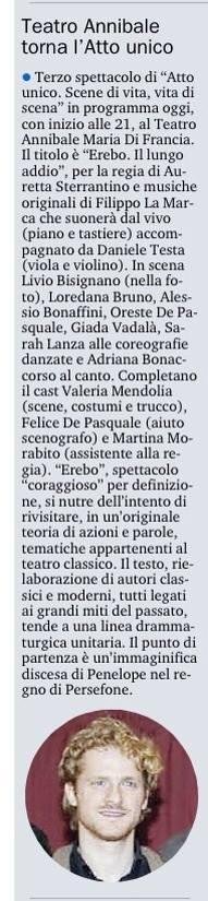 EREBO - Gazzetta del Sud 07.12.14