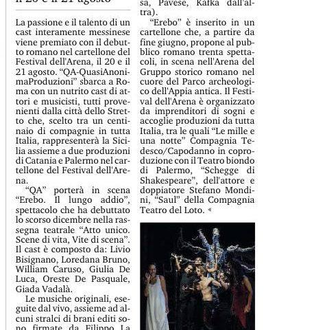 EREBO - Gazzetta del Sud - Edizione di Messina 14.08.15