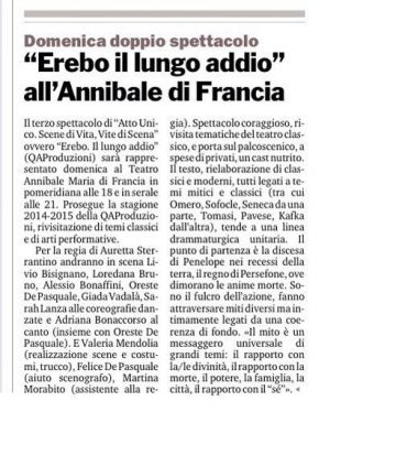 EREBO - Gazzetta del Sud 05.11.14