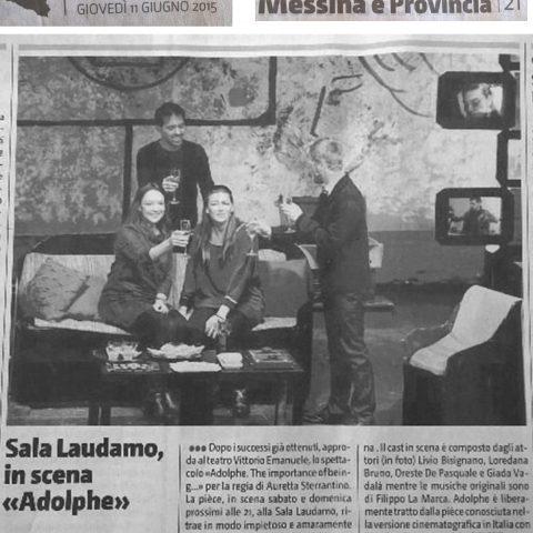 ADOLPHE - Giornale di Sicilia