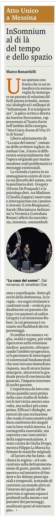 INSOMNIUM - Recensione Bonardelli Gazzetta del Sud 18.12.15