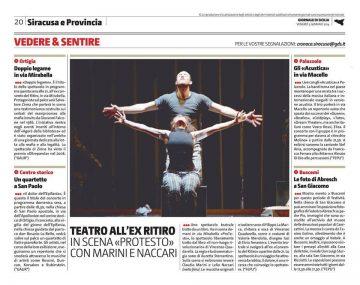 PROTESTO - Giornale di Sicilia 03.01.13